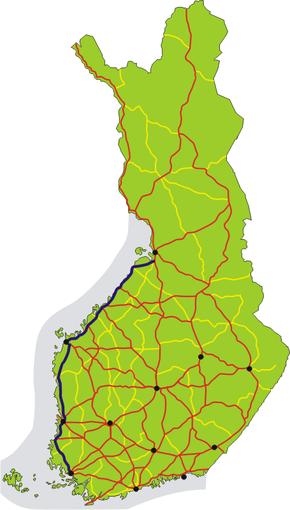 Finnish National Road 8 (Finland)
