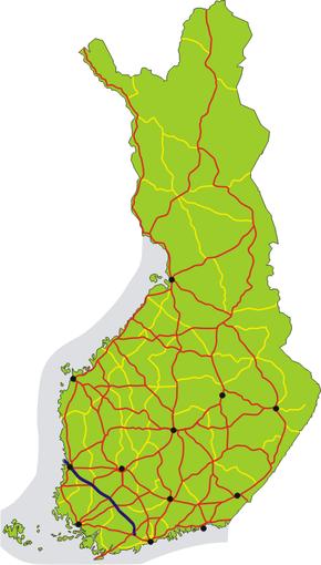 Finnish National Road 2 (Finland)